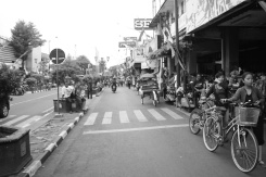 Maliobor street in black and white