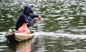 Fisherman and his fishing net
