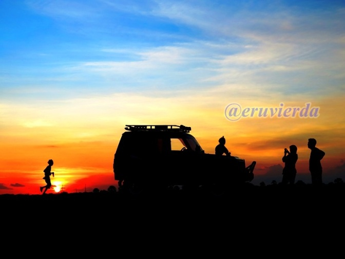 Happy sunset at Yogyakarta's Sand Dune