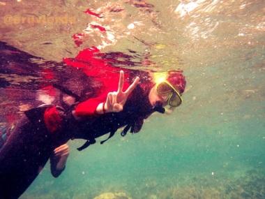 my snorkeling friendfrom jakarta